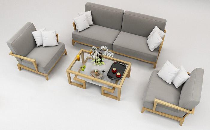 Sofa go cao cap GO02