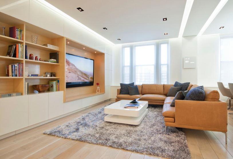 Ánh sáng là điều cần thiết cho phòng khách